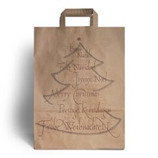 Christmas Tree Value Paper Carrier Bags