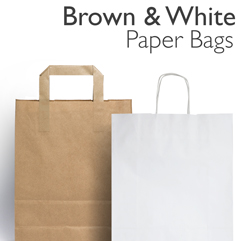 Brown & White Kraft Paper Bags