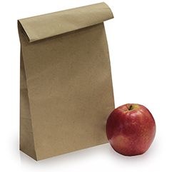 Brown & White Paper Bags
