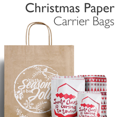 Christmas Paper Carrier Bags