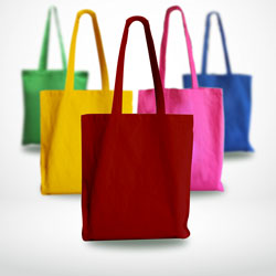Coloured Cotton Carrier Bags