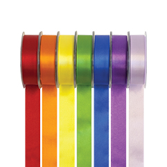 Coloured Double Satin Ribbons