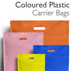 Coloured Plastic Carrier Bags