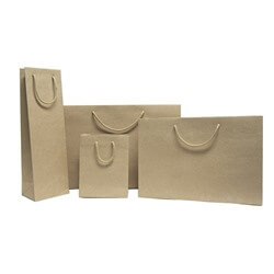Natural Kraft Boutique Carrier Bags