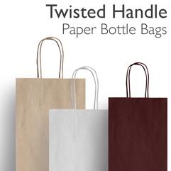Twist Handle Paper Bottle Bags