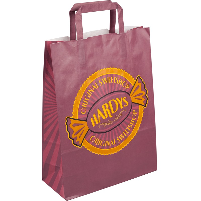 Printing Internal Flat Handle Paper Carrier Bags