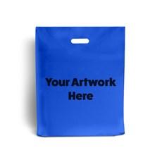 Royal Blue Printed Plastic Carrier Bags
