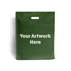 Harrods Green Printed Plastic Carrier Bags
