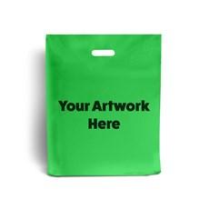 Apple Green Printed Plastic Carrier Bags