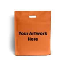 Orange Printed Plastic Carrier Bags