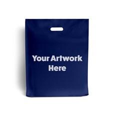 Navy Blue Printed Plastic Carrier Bags