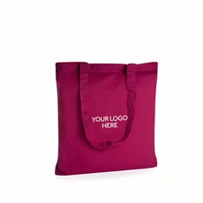 Personalised Shocking Pink Cotton Shopping Bags