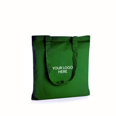 Personalised Green Cotton Shopping Bags