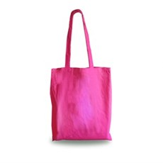 Shocking Pink Cotton Shopping Carrier Bags with Long Handles