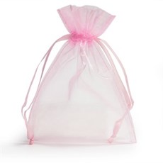 Light Pink Organza Bags with Drawstring