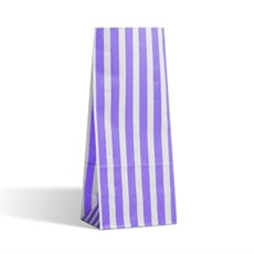 Purple Stripe Pick n Mix Paper Bags