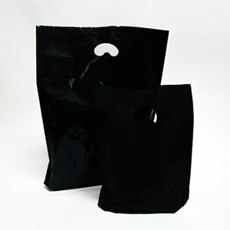 Black Premium Degradable Plastic Carrier Bags