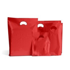 Red Classic Plastic Carrier Bags [Standard Grade]