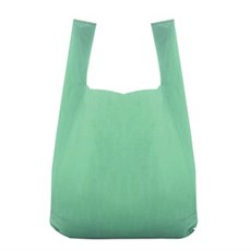Recycled Green Vest Style Plastic Carrier Bags