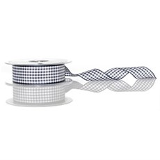 Navy Blue Gingham Ribbon [13]