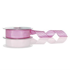 Shocking Pink Gingham Ribbon [72]