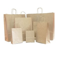 f277ee6fa4 Brown Premium Italian Paper Carrier Bags with Twisted Handles