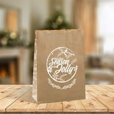 Rustic Block Bottom Paper Bags