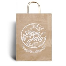 Rustic Kraft Recycled Christmas Carrier Bags