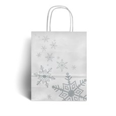 Silver Snowflake Premium Christmas Carrier Bags