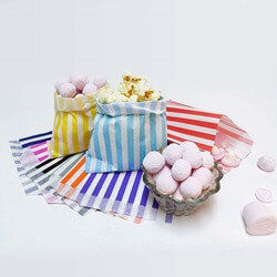 All Candy Stripe Paper Bags