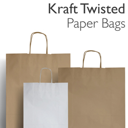 Kraft Twist Paper Carrier Bags
