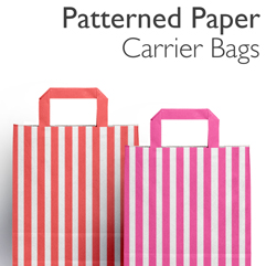 Patterned Paper Carrier Bags