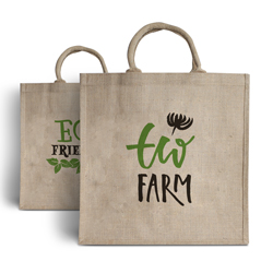 Printed Jute Carrier Bags