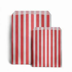 Red Candy Stripe Paper Bags