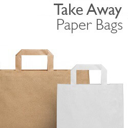 SOS Take Away Paper Carrier Bags