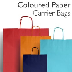 Coloured Twist Paper Carrier Bags