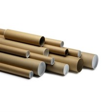 A4 Postal Tubes with End Caps - 240mm x 50mm