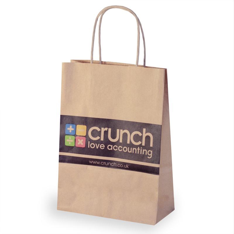 Printed Twist Handle Paper Carrier Bags