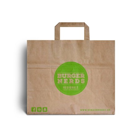 Printed Patisserie Paper Carrier Bags