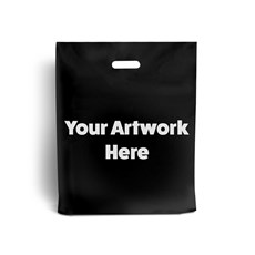 Black Printed Plastic Carrier Bags