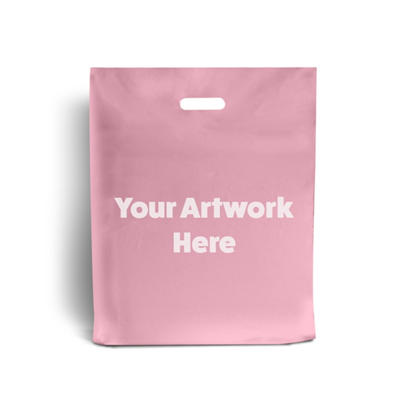 Light Pink Branded Plastic Carrier Bags