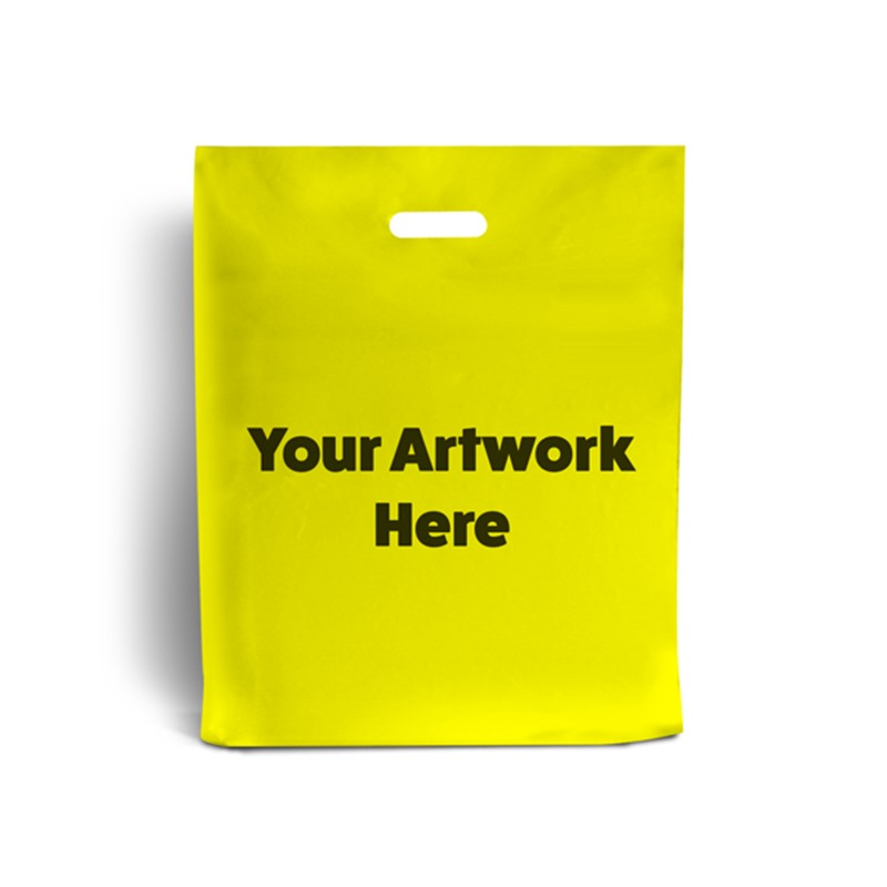 Yellow Branded Plastic Carrier Bags