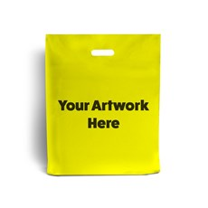 Yellow Printed Plastic Carrier Bags