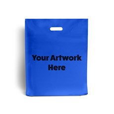 Royal Blue Printed Plastic Carrier Bags
