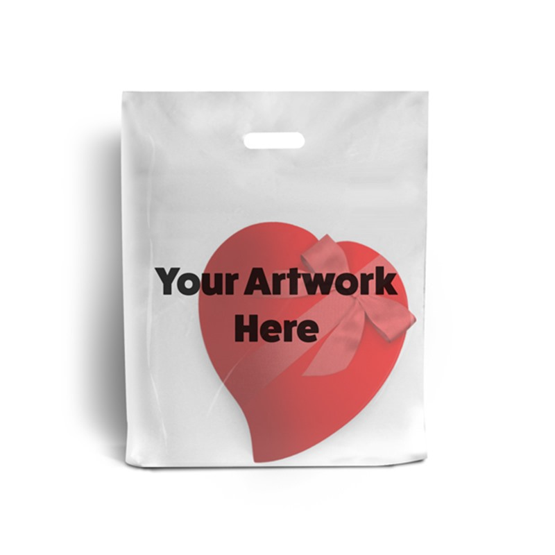 Clear Branded Plastic Carrier Bags