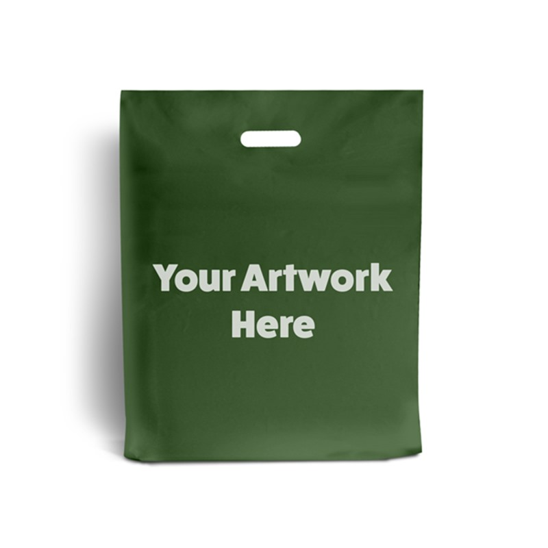 Harrods Green Branded Plastic Carrier Bags
