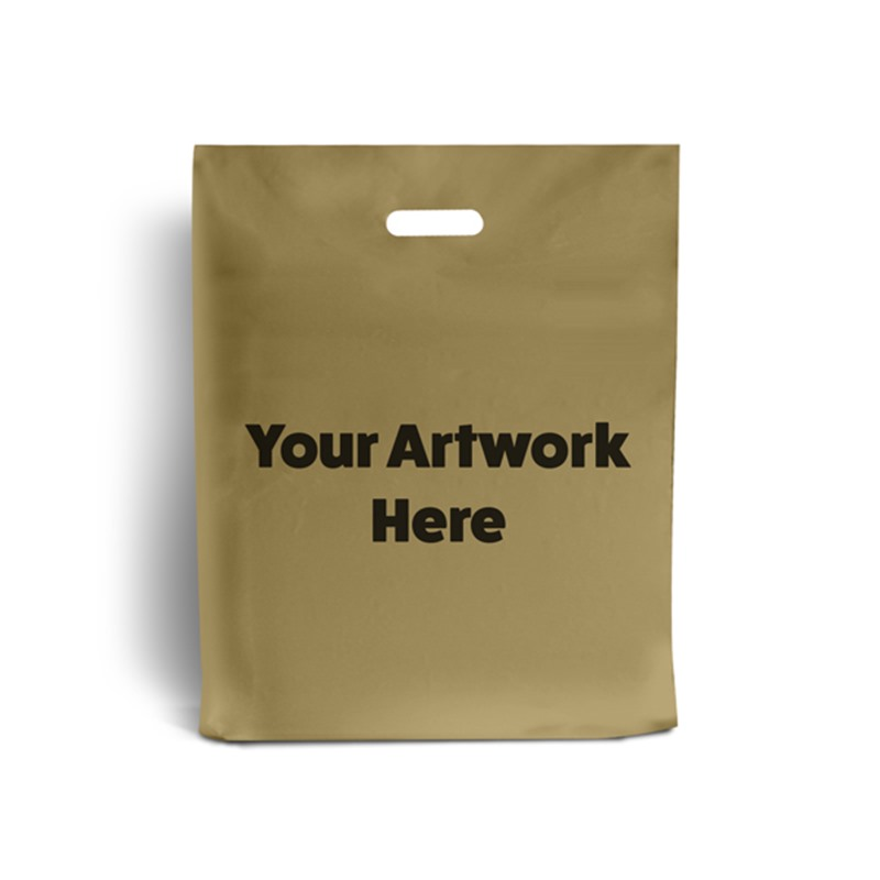 Gold Branded Plastic Carrier Bags