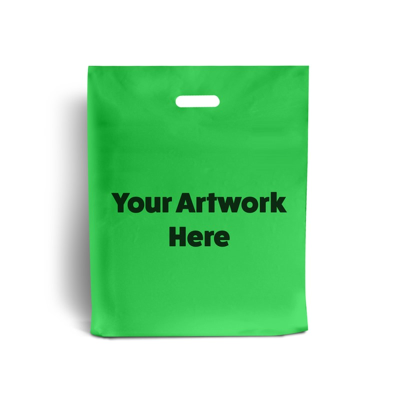 Apple Green Branded Plastic Carrier Bags