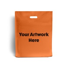Orange Printed Plastic Carrier Bags