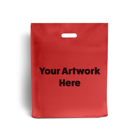 Red Branded Plastic Carrier Bags